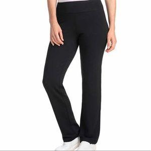 Yoga Pants Medium Black Wide Straight Leg Dalia